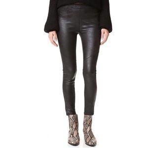 FREE PEOPLE Never Let Go Faux Leather Pants Black Women's Size 12